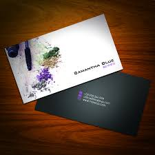 business card design for freelance makeup artist business cards