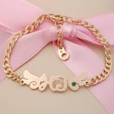 Gold Baby Name Bracelets Name Kaiu Engravable Jewelry For Babies Newborns U0026 Children