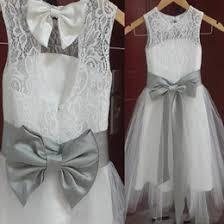 flower dresses grey sash online flower dresses grey