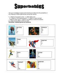 superbabies punnett square worksheet by efranklin teaching