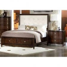 Platform Bed With Nightstands Attached Leather Platform Bed With Storage Foter