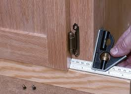 How To Hang Kitchen Cabinet Doors How To Install Surface Mounted Hinges Startwoodworking Com