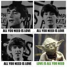 Beatles Yoda Meme - capito perché bastardidentro beatles yoda parlata