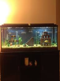 awesome mario bros inspired fish tank fish tanks mario