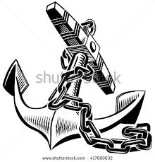 vector graphic image anchor chain isolated stock vector 417680632