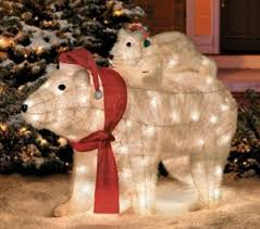 polar lighted lawn ornament