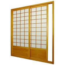 Patio Screen Kit by Oriental Furniture 7 Ft Zen Shoji Sliding Door Kit Walmart Com