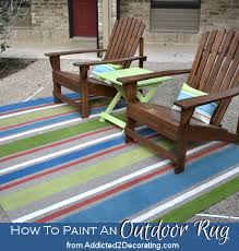 Inexpensive Outdoor Rugs Outdoor Rug With Painted Stripes Outdoor Rugs Pillows And Check
