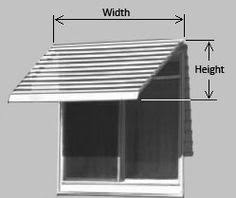 Awning For Mobile Home Window Awning Diagram Wish I Had This Before Making My Own