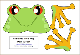 red eyed tree frog clipart printable pencil and in color red