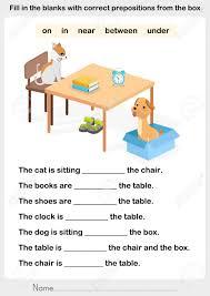 preposition worksheet photos dropwin