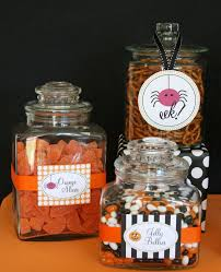 Halloween Jars Crafts by Halloween Treats Table U2013 Glorious Treats