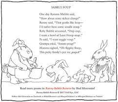 shel silverstein thanksgiving message about new book runny rabbit
