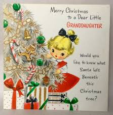 hallmark sweet little behind tree 1950 u0027s vintage christmas