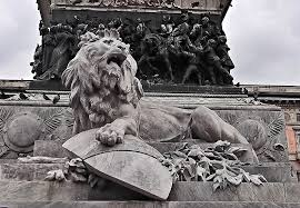 lion statue free photo lion statue monument free image on pixabay 2122381