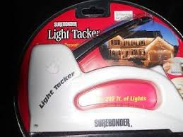 Light Tacker Surebonder Staple Gun Holiday Christmas Lights Wires
