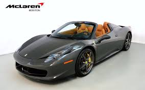 used 458 spider 2014 458 spider for sale in norwell ma 198843 mclaren