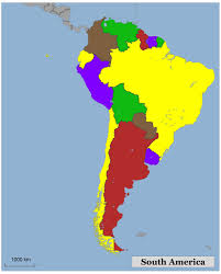 Blank Map Of The Americas by Blank Color Map Of South America