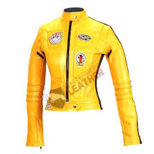 ladies motorcycle jacket bill uma thurman motorcycle jacket