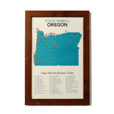 Map Of Oregon State Parks by Oregon State Parks Map U0026 Checklist U2014 Gitchi Adventure Goods