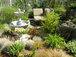 Small Space Backyard Landscaping Ideas by Exterior Back Yard Landscape With Garden Sloped Using Flagstones