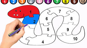 snake coloring page and 1 to 10 numbers snake puzzle youtube