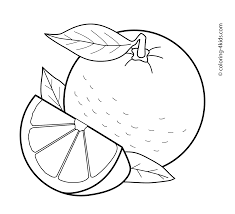 orange for kids coloring page free download