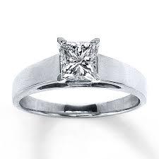 1k engagement rings jared solitaire ring 1 carat princess cut 14k white gold