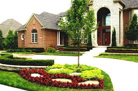 ideas for front of house landscaping simple design decors photos