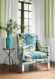 shelton wing chair from thibaut fine furniture in daintree printed