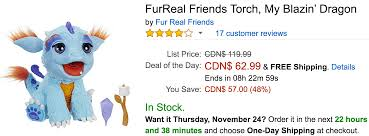 amazon black friday canada amazon canada black friday deals save 48 on furreal friends