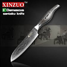 vg10 kitchen knives 5 inches santoku knife japanese vg10 damascus kitchen knives