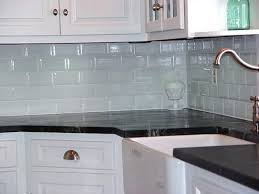 gray glass tile kitchen backsplash chip cabinets quartz
