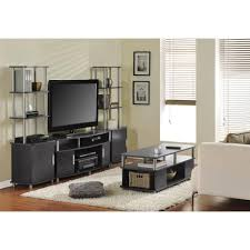 table for home theater system ameriwood home carson coffee table espresso silver walmart com