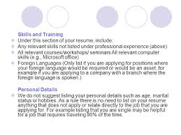 Listing Job Experience On Resume by Sample Resume Heading Your Name Your Address Can Be A Post Office
