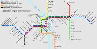 Portland Trimet Map by 波特兰轻轨 维基百科 自由的百科全书