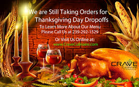 thanksgiving day drop offs from crave culinaire crave culinaire