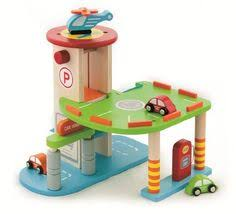 melissa u0026 doug deluxe wooden parking garage playset cars the