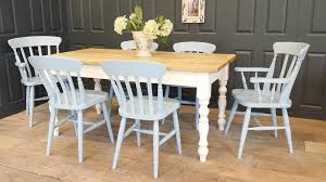 shabby chic farmhouse table shabby chic dining tables handmade bespoke sizes loads of choice
