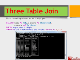 Join Three Tables Sql Database Systems Sql Ddl Statements Chapter 3 3
