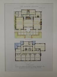 Quad Plex Plans by House Front Color Elevation View For D 444 Corner Lot House Plans