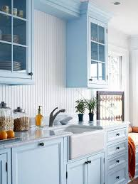 light blue kitchen backsplash 25 beadboard kitchen backsplashes to add a cozy touch digsdigs