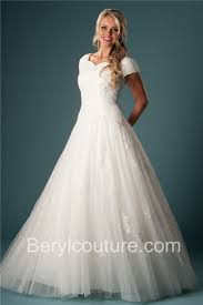 a line sweetheart neckline short sleeve tulle lace modest wedding