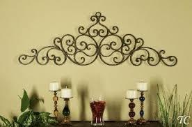 wall decor ideas tuscan wrought metal scroll wall white