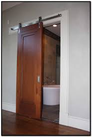Interior Doors Privacy Glass Bathrooms Design Sliding Bathroom Door Shed Barn Style Interior