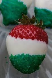White Chocolate Covered Strawberries Kids Half Dozen Gourmet Dipped Christmas Strawberries Sprinkles