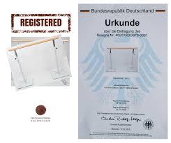 eingetragenes design registrierung der mobilen ballettstangen beim dpma