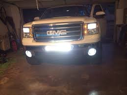 Led Grill Light Bar by Nnbs Sierra Led Lights Bars Behind My Grille Chevy Truck Forum