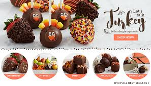 thanksgiving chocolates dipped strawberries chocolate covered treats at shari s berries