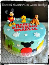 mickey mouse clubhouse birthday cake second generation cake design mickey mouse clubhouse birthday cake